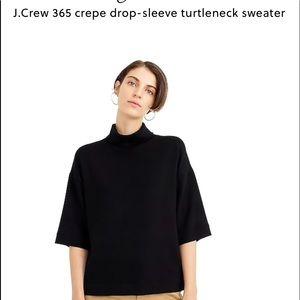 NWT JCrew collection 365 drop sleeve turtlenecK